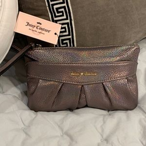 Juicy Couture Platinum Colored Wristlet